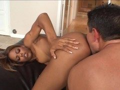 Ebony Beauty Enjoys Anal