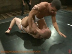 Jockstrap wrestling with hot ass fucking