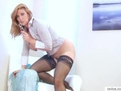 Big Tit Leona Lee Couch Masturbation