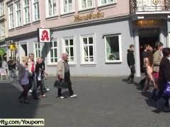 Damjana - Hot tattooed girl has fun in public