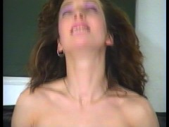Lots of cum cums out of cock and her mouth