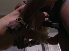 Getting hammered  by a big black cock to save her dad