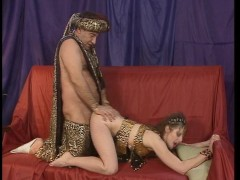 Morgiana will suck cock and let Ali Baba in her ass (CLIP)