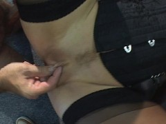 Pounding her clit with my dick
