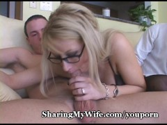 Busty Blonde Mommy Shared With Buddy