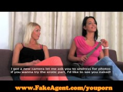 FakeAgent Two girls make me cum quick!