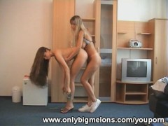 Milly Morris & Monika Big Boobs Antics