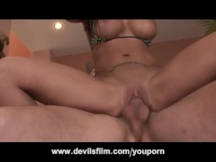 Slut With Huge Fake Tits Squirts All Over The Place