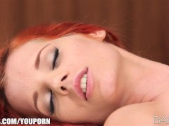 Incredibly sexy redhead brings her young brunette GF to orgasm