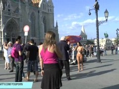 Hot Babe Alyssia Naked On Public Streets