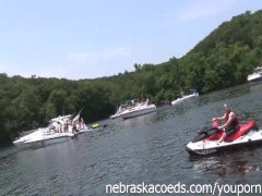 Innocent Teens Getting Wild and Dirty at Lake of the Ozarks Missouri Party cove