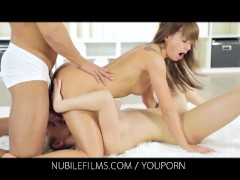 Nubile Films - Bella Baby And Her Young Lesbian Lover Experiment With A Hard Cock