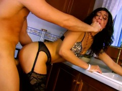 Beautiful Lou Charmelle Fucked In The Kitchen - Scene 1 - Kemaco Studio