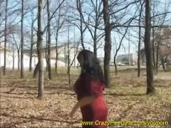crazy pissing in public