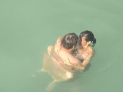 Voyeur caught sex in the water