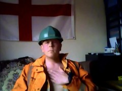 Young Worker Pig in Orange Overall