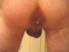 Creampie this morning. I love squirting a load out of my ass ;)