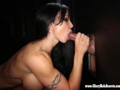 Gloryhole Secrets Jewels Jade Cum swallowing at gloryhole 3