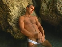 Muscled guy jacking off near the beach - Pacific Sun Entertainment