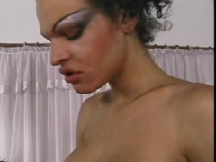 Shemale with big boobs riding cock - Shock Wave