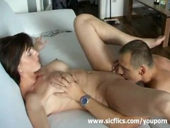 Busty brunette loves hard fisting orgasms