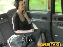 FakeTaxi Gothic looking woman takes a hard cock in London cab
