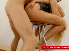 Paradise Films anal creampie for a young blonde