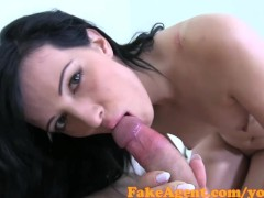 FakeAgent Sexy amateur with jet black hair sucks and fucks in Casting