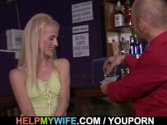 Barman fuck my wife please