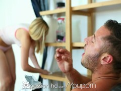 Passion-HD - Alexa Grace is cleaning the house in panties and bra