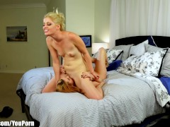 Lexi Belle Catches blonde Watching Lesbian Porn