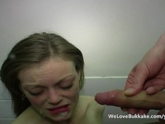 Amateurs waiting for cum facial compilation