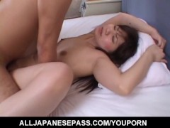 Momo Nakamura Asian milf gets pussy spread and licked before hardcore fucking