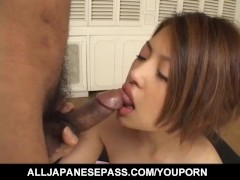 Alice Hoshi loves having her creamy bush pumped hard