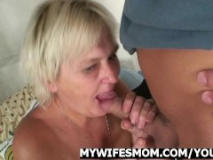 Drunk orgy with granny and son-in-law