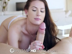 FantasyHD - Kymberlee Anna shows off her perfect fat pussy