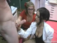 Nurse And Her Assitant Want Young Patient To Jerk