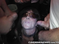 Hot wife Marion gangbanged by 100's of guys