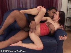 Skinny Amateur Creampied by MASSIVE Dong
