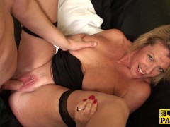 Busty mature brit subs before cuminmouth