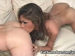 Famous porn slut Sahara Knite eats ass crack then gets cum on her kisser