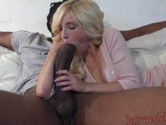 Tiny Piper takes 12 inch biggest black cock!