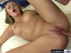 Teen Kandace fucks step brother and swallows his load