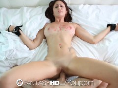 FantasyHD - Tied down and submissive Ariana Marie gets fucked