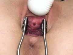 Open sweetie  gaping, gyno, real orgasm, toys, masturbation