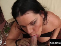 Big Tit Cuban Slut Angelina Castro Squirts and Blows!