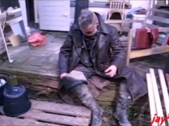 rubber boots, mud, rubber waders