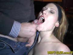 Hot wife Nicole swallows tons of cock and cum