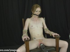 Katy Kiss Chair Tied Bondage Orgasms