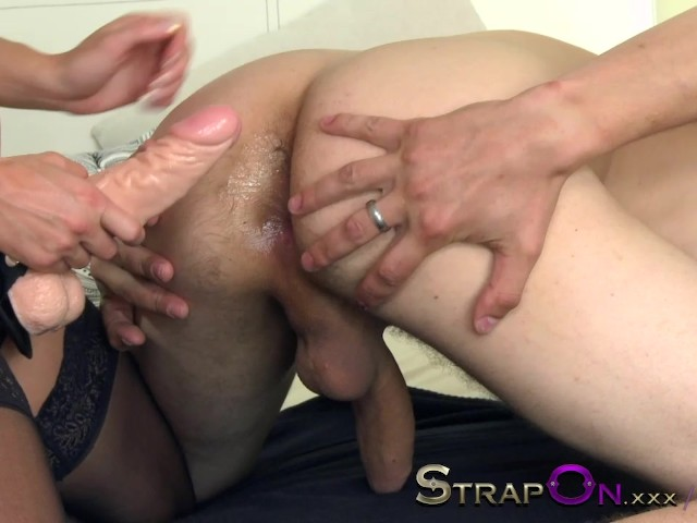 Strapon Pegging Scene With Blonde Teen Babe Fucking Man In -7203